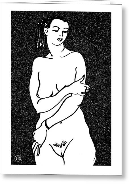 Body Greeting Cards - Nude Sketch 2 Greeting Card by Leonid Petrushin