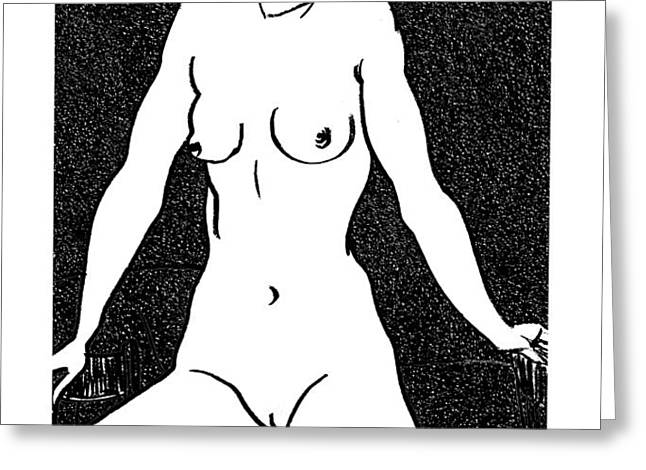 nude sketch 5 Greeting Card by Leonid Petrushin