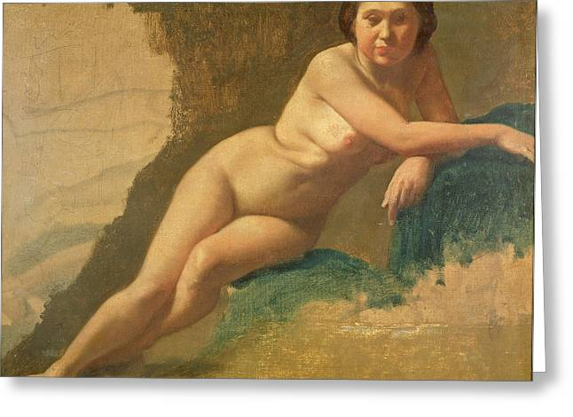 Femme Greeting Cards - Nude Study, C.1858-60 Oil On Canvas Greeting Card by Edgar Degas