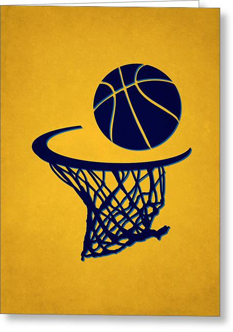 Denver Nuggets Greeting Cards - Nuggets Team Hoop2 Greeting Card by Joe Hamilton