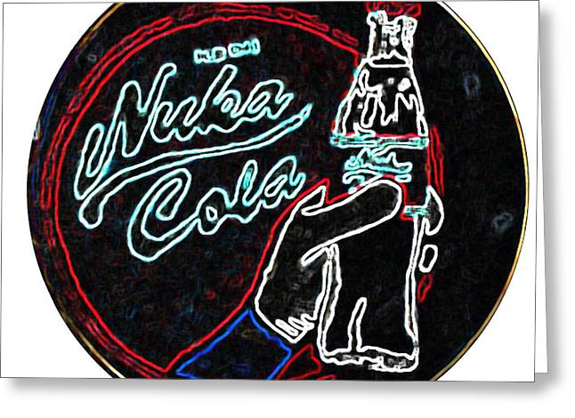 The Vault Digital Greeting Cards - Nuka Cola Neon Greeting Card by Jezebel X