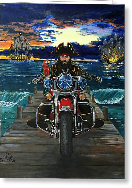 Pirate Ships Greeting Cards - Nulla Parte Greeting Card by Scott Wilson