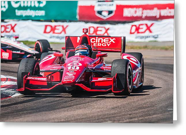 Indy Car Greeting Cards - Number 10 Greeting Card by Jeff Donald