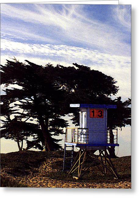 Beach In Santa Barbara Greeting Cards - Number 13 Greeting Card by Ron Regalado