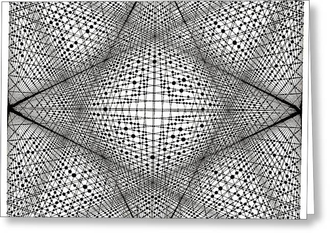 Dots And Lines Paintings Greeting Cards - Number 18 Greeting Card by Michael Revere