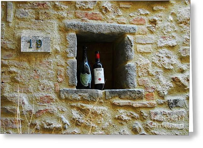 Italian Wine Greeting Cards - Number 19 Greeting Card by Mel Steinhauer