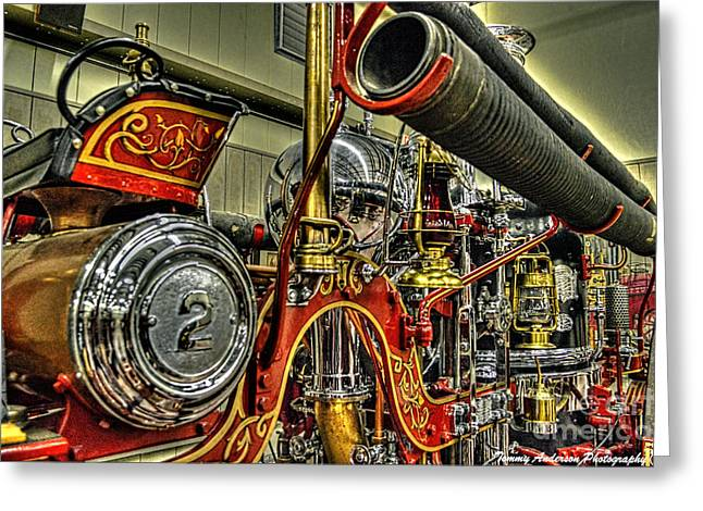 Steamer Truck Greeting Cards - Number 2 Steamer Greeting Card by Tommy Anderson