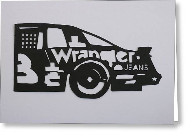 1987 Mixed Media Greeting Cards - Number 3 Car Wrangler Greeting Card by Anna Ruzsan