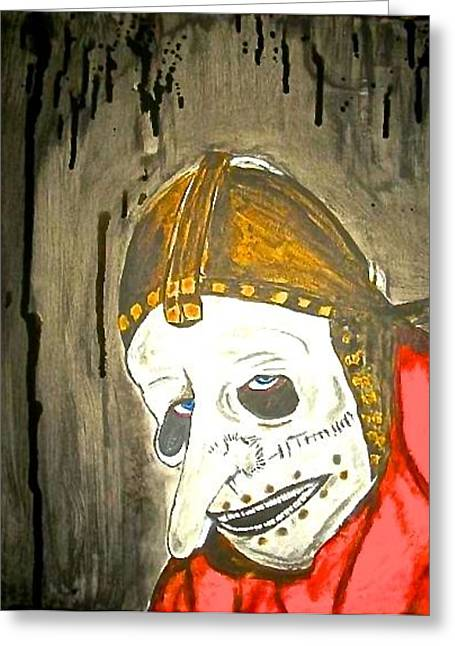 Slipknot Greeting Cards - Number 3 Greeting Card by Funk Art