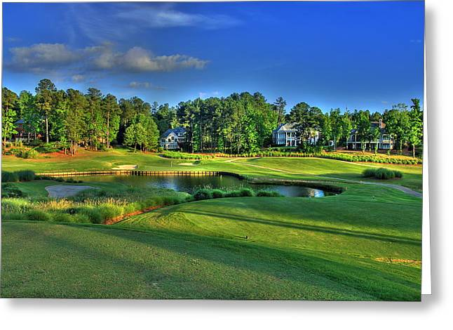 Golf Pictures Greeting Cards - Number 3 at The Landing in Reynolds Plantation Greeting Card by Reid Callaway