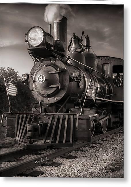 Number 4 Narrow Gauge Railroad Greeting Card by Bob Orsillo