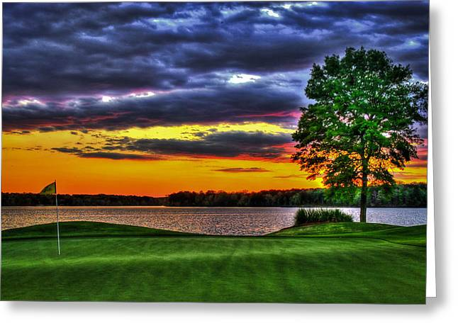 Golf Hole Greeting Cards - Number 4 Greeting Card by Reid Callaway