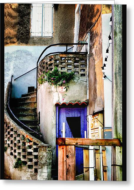 Stair-rail Greeting Cards - Number 7 Les Beaux France Greeting Card by Tom Prendergast