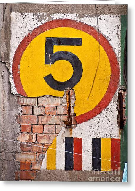Number Five Greeting Card by Delphimages Photo Creations