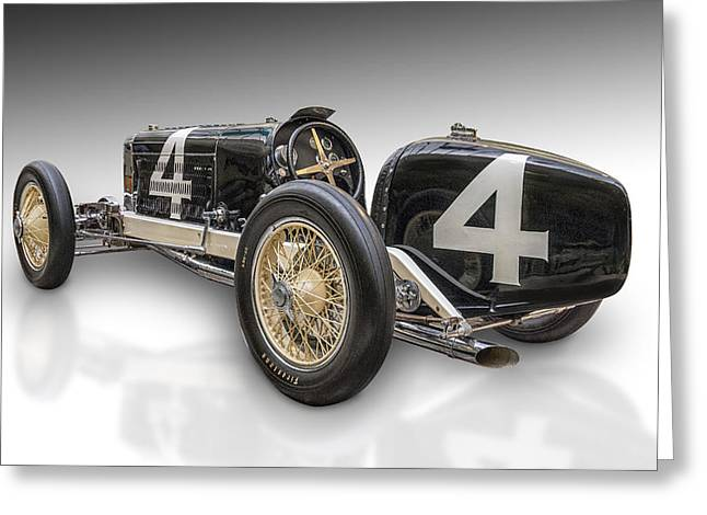 Indy Car Greeting Cards - Number Four Greeting Card by Gary Warnimont