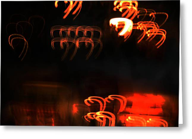 Abstract Movement Greeting Cards - Number Seven Greeting Card by Luis Fournier