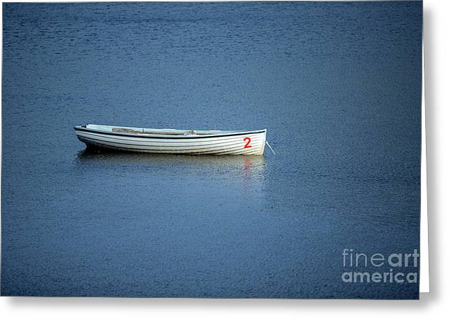 Boats In Water Greeting Cards - Number Two Boat Greeting Card by Iris Richardson