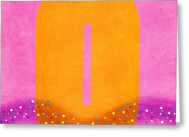 Pink Digital Greeting Cards - Number Zero Flotation Device Greeting Card by Carol Leigh