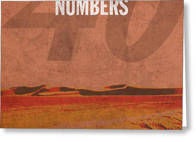 Numbers Books of the Bible Series Old Testament Minimal Poster Art Number 4 Greeting Card by Design Turnpike