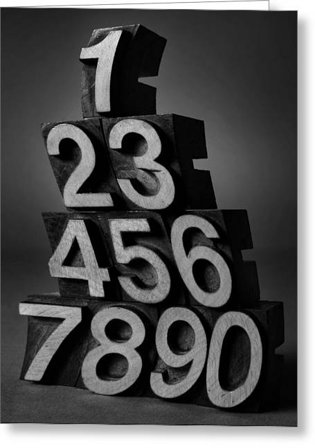 Number One Greeting Cards - Numbers Greeting Card by Tony Ramos