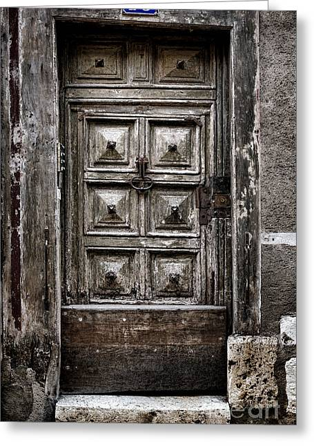 French Doors Greeting Cards - Numero 16 Greeting Card by Olivier Le Queinec