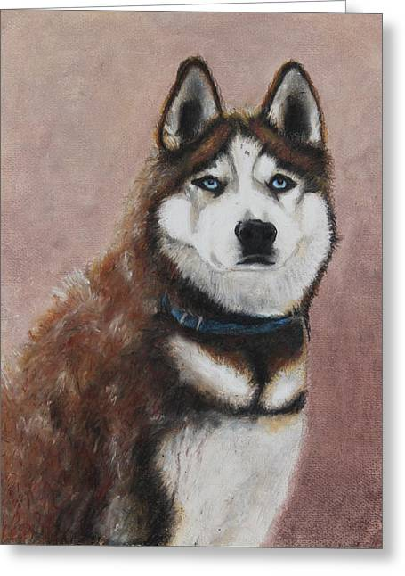 Husky Pastels Greeting Cards - Nunyett Greeting Card by Jeanne Fischer