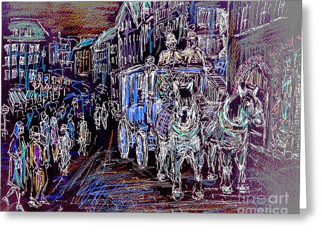Chaise Greeting Cards - Nuremberg Christmas Market Greeting Card by Alfred Motzer
