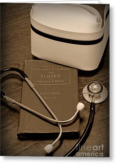 Empathy Greeting Cards - Nurse - The Care Giver Greeting Card by Paul Ward