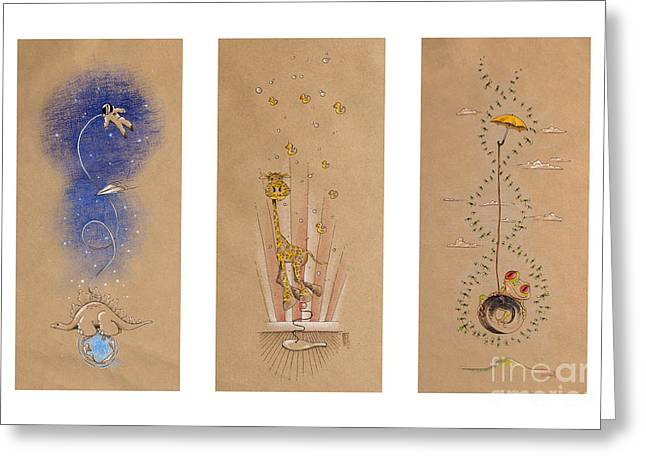 D.w Greeting Cards - Nursery Collection 2 Greeting Card by David Breeding