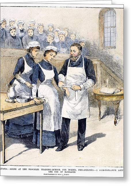Vocational Training Greeting Cards - Nursing School, 1885 Greeting Card by Granger