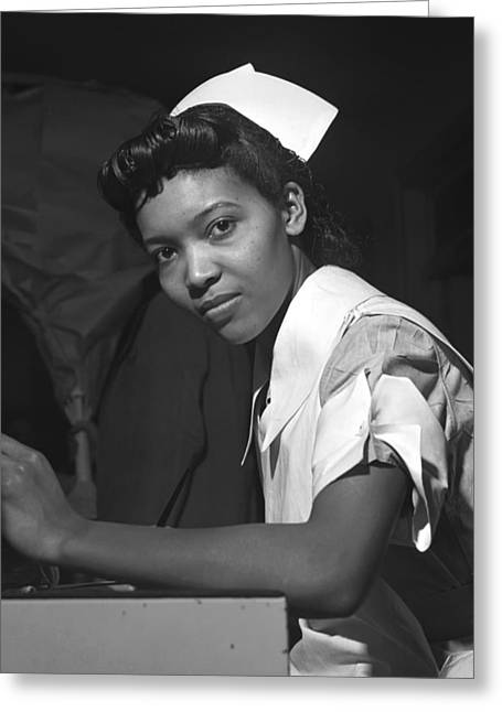 African American History Greeting Cards - Nursing Student at Chicago Provident Hospital 1942 Greeting Card by Mountain Dreams