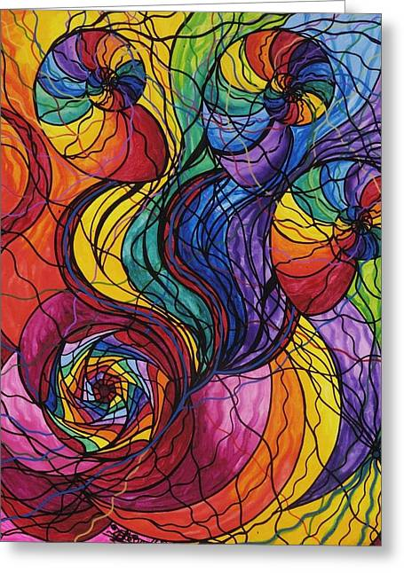 Frequency Prints Greeting Cards - Nurture Greeting Card by Teal Eye  Print Store