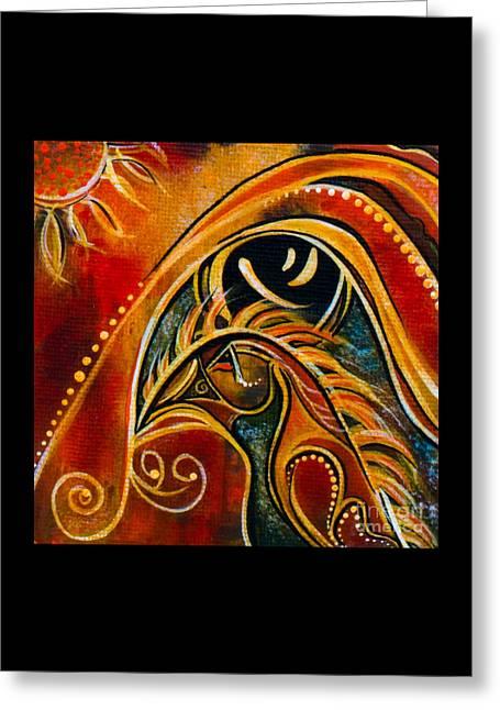 Brow Chakra Greeting Cards - Nurturer Spirit Eye Greeting Card by Deborha Kerr
