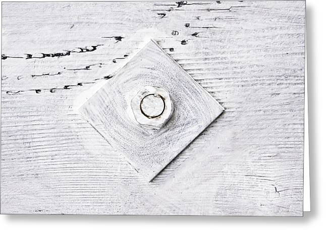 Industrial Icon Photographs Greeting Cards - Nut and bolt Greeting Card by Tom Gowanlock