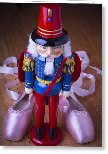 Nut Greeting Cards - Nutcracker and ballet shoes Greeting Card by Garry Gay
