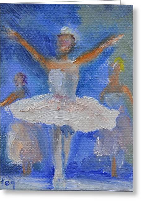 Ballet Dancers Greeting Cards - Nutcracker Ballet Greeting Card by Donna Tuten