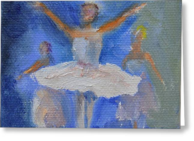 Nutcracker Ballet Greeting Card by Donna Tuten