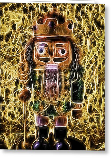 Many Faces Greeting Cards - Nutcracker Glow Greeting Card by Garry Gay
