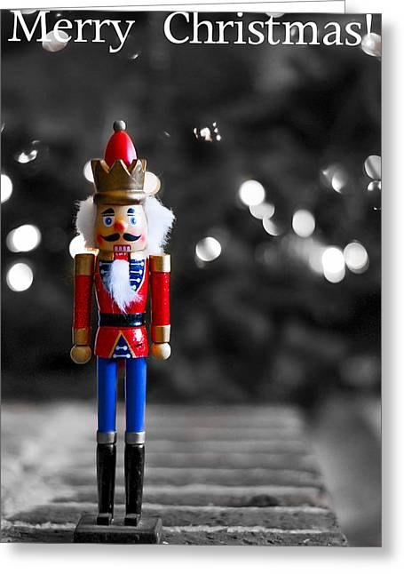 First Noel Greeting Cards - Nutcracker Greeting Card by Shelby  Young