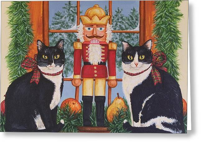 Nutcracker Sweeties Greeting Card by Beth Clark-McDonal