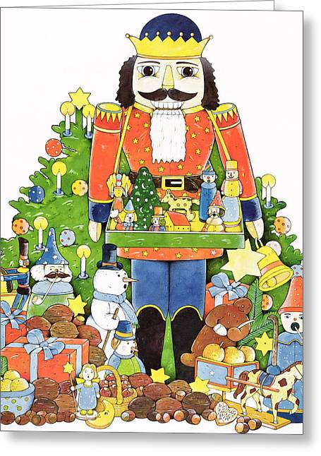 Nut Greeting Cards - Nutcracker Wc On Paper Greeting Card by Christian Kaempf