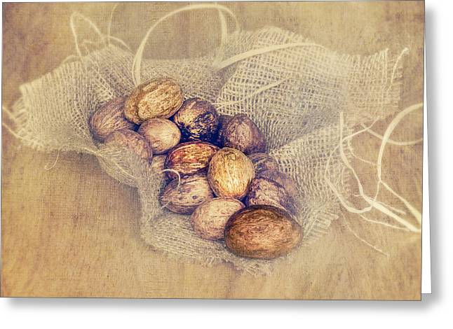Nuts Mixed Media Greeting Cards - Nutritious Nuts Greeting Card by Svetlana Sewell