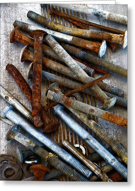 Gia Marie Houck Greeting Cards - Nuts and Bolts Greeting Card by Gia Marie Houck