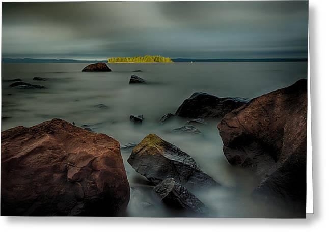 Nuttall Island Last Sunlight Greeting Card by Jakub Sisak