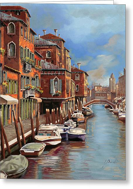Lagoon Greeting Cards - nuvole a Murano Greeting Card by Guido Borelli