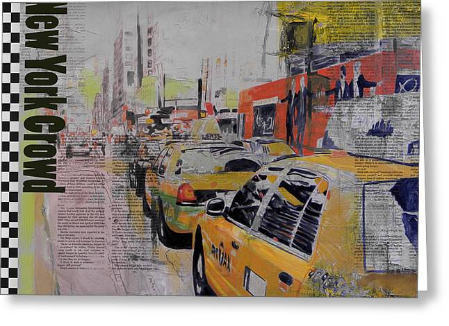 New Jersey Paintings Greeting Cards - NY City Collage 2 Greeting Card by Corporate Art Task Force