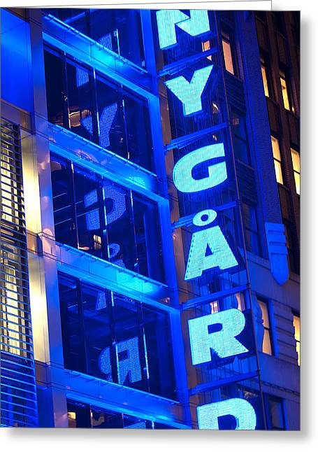 Toy Guitars Greeting Cards - NY Gard Greeting Card by Paul Mangold