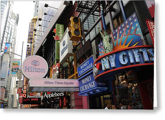 Broadway St Greeting Cards - NY Gift Greeting Card by Hernan Perez Aguirre