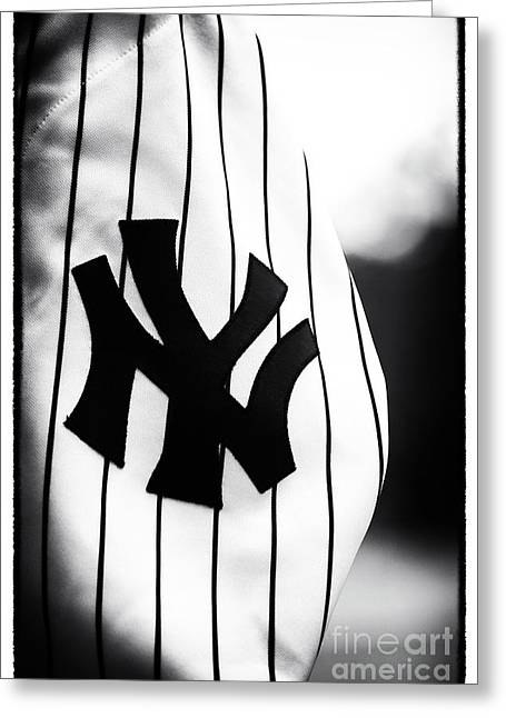 Bronx Bombers Greeting Cards - NY Pride Greeting Card by John Rizzuto