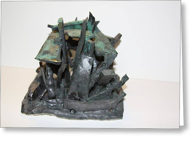 New York Sculptures Greeting Cards - NY Steel Greeting Card by Jean Macaluso
